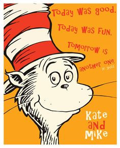 Dr Seuss Fan Art Poster The Cat In The Hat by PurpleCowPosters