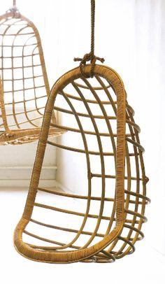 Hanging Rattan Chair - Two's Company - $468.75 - domino.com
