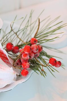 Winter berries for simple Christmas accents.