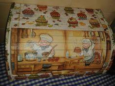 reciclar panera de madera - Buscar con Google Bakery Box, Decoupage Vintage, Stencils, Vintage World Maps, Decorative Boxes, Shabby Chic, Gifts, Home Decor, Google