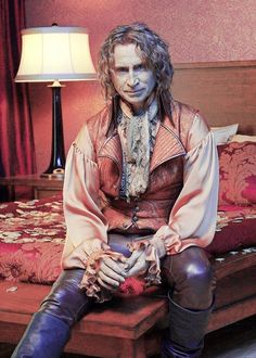 """Once Upon a Time"". LOVE Robert Carlyle's portrayal of devilish and vindictive Rumpelstiltskin. He is a complex character and you sense the conflict of good vs. evil in him. He can't seem to help but be bad. Fantastic little laugh too."
