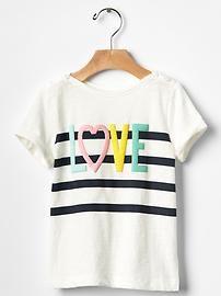 Stripe graphic short-sleeve tee