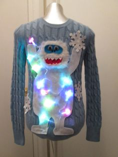 Ugly Christmas Sweater Ideas - Reasons To Skip The Housework Abominable Snowman Sweater: If you are attending an ugly Christmas sweater party this year, we have got you covered! Here are 25 Ugly Christmas Sweater Ideas for you to use as inspiration. Ugly Sweater Contest, Ugly Sweater Party, Tacky Sweater, Best Ugly Christmas Sweater, Christmas Diy, Xmas Sweaters, Xmas Jumpers, Christmas Tables, Nordic Christmas