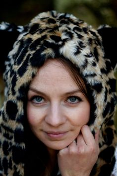 New Animal Snood Hood Leopard Faux Fur Hat with by ak4solutions, $27.00