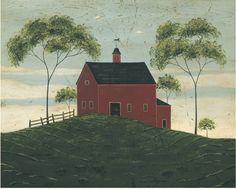 Brandon Barn ~ Warren Kimble ~ American Folk Art