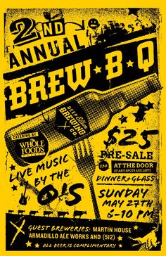 Brew B Q Poster - Deep Ellum Brewing Company