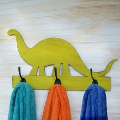 Dinosaur Towel Hook Wooden Bracho Dino Kids by SlippinSouthern, $69.00