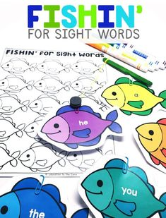 """Students will """"fish"""" for irregularly spelled words that they recognize. They will then write the words they recognized into their accountability sheet."""