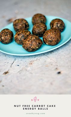 Carrot cake nut free energy balls