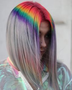 Rosa Haare 2019 - For the Love of Lob: 20 Long-Bob Hairstyles to Inspire You - Hair Cutting - Mode. Hair Dye Colors, Cool Hair Color, Weird Hair Colors, Long Bob Hairstyles, Pretty Hairstyles, Medium Haircuts, Pink Hairstyles, Perfect Hairstyle, Modern Hairstyles