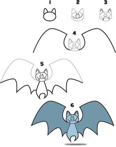 how to draw a bat - Buscar con Google