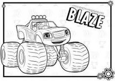 Blaze and the monster machines coloring pages monsters for Blaze e le mega macchine youtube