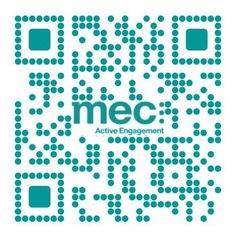 QR code: MEC. Created by iQR codes.