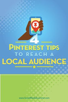 Are you a local business on Pinterest?  There are some simple tactics you can use to reach locals via Pinterest without using promoted pins.  In this article, youll discover four ways to connect with local customers using Pinterest. Via @smexaminer.