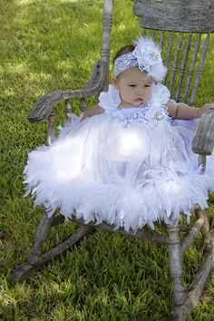 Super cute white flower girl dress Etsy listing at https://www.etsy.com/listing/161635189/ooak-white-feather-dress-with-flower