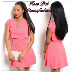 🎉Host Pick🎉 Coral Cut Out Dress 🎉So Long Summer Host Pick🎉 Are you ready to try the crop top look? This is the perfect dress to try! This dress has side cut-outs and a cropped top. Beautiful coral color with a floral embroidered detail. The dress is made of a polyester/spandex blend. Available in small, medium, and large. Boutique Dresses