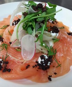 SMOKED SALMON, FENNEL SALAD AND ROXETTE, SHAVED RADISH. YOGHURT AND ...