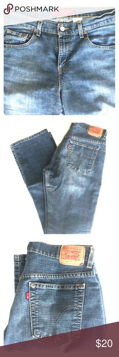 {Levis Nouveau Boot-Cut Stretch 515 Jeans} Size 8L Super slimming jeans in a medium rinse. Length lengthening to flatter, hold and lift. Material Content: 87%Cotton, 12%Polyester, 1%Lycra Spandex #levisjeans, #leviswomensjeans, #levissize8l Levi's Jeans Boot Cut