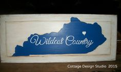 hand painted Kentucky sign state of by CottageDesignStudio on Etsy   State of Kentucky / University of Kentucky sign $40.00 + shipping