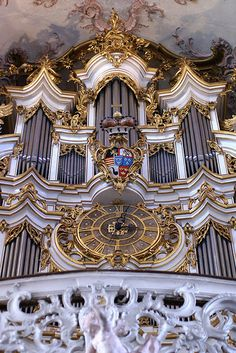 Amorbach, Abteikirche, Stumm-Orgel (Abbey Church, Stumm pipe organ)