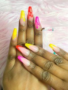 Drip nails Drip Nails, Toe Nails, Acrylic Nails, Toe Nail Color, Nail Colors, Feet Nails, Toenails, Toe Polish, Acrylics