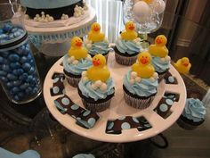 Duck cupcakes to go with baby shower theme