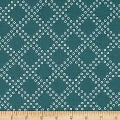 Designed by Rashida Coleman-Hale for Cotton + Steel, this cotton print is perfect for quilting, apparel and home decor accents. Colors include dark teal and white.