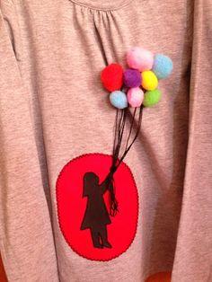Camiseta niña con globos
