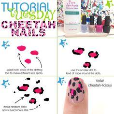 It's tutorial tuesday time! DIY Cheetah/Leopard print nails!