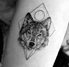 Wolf tattoo - Tattoos - Tattoo World Wolf Tattoos, Animal Tattoos, Cute Tattoos, Leg Tattoos, Beautiful Tattoos, Arm Band Tattoo, Body Art Tattoos, Small Tattoos, Sleeve Tattoos