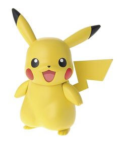 Bandai Pokemon Plastic Model Kit. Build Pikachu!. Simple snap-fit plastic kit, no glue/paint needed. Made by Bandai. Officially licensed by Nintendo. Japan Import.
