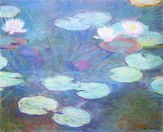Water Lilies, Pink, 1899 ~ Claude Monet