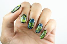 Mystic Marble #nails #nailart #drymarble Marble Nails, Natural Nails, Manicures, My Nails, Mystic, Nailart, Gemstone Rings, Nail Designs, Gemstones