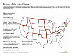 Worksheets: Regions of the United States