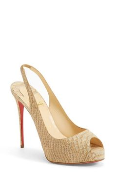 Christian Louboutin Peep Toe Slingback Pump available at #Nordstrom