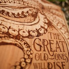 Laser Engraved Wooden Poster by SpaceWolf