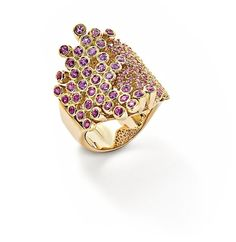 Pink sapphire 'Lava' ring by Robinson Pelham