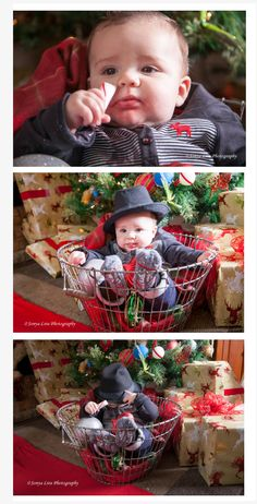 First Christmas pictures 6 months old. Sonya Lira Photography Manvel, Texas.