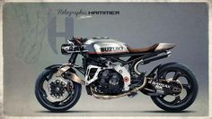 Suzuki Cafe Racer Concept by Holographic Hammer #caferacer #motos #motorcycles | Vintgarage