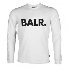 Long Sleeved Shirt Brand White - BALR.