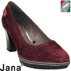 Jana női őszi bőr cipő 8-22403-27 549 bordó kombi