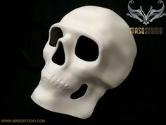 Blank White Full Face Masquerade Mask Man craft handmade resin DIY Día de Muertos Day of the Dead costume Halloween party Wall Deco Mens Masquerade Mask, Venetian Masquerade Masks, Halloween Masquerade, Halloween Masks, Day Of The Dead Mask, Jester Mask, Mask Painting, Man Crafts, Skull Mask