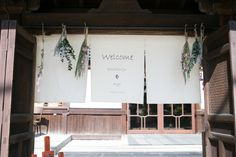 Welcome to Pavilion Court:パビリオンコート Container Coffee Shop, Noren Curtains, Store Image, Curtain Designs, Wedding Welcome, Chalk Art, Shop Signs, Store Design, Pavilion