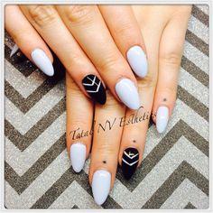 Almond shape gel nails