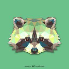 Vector cabeza de mapache Vector Gratis