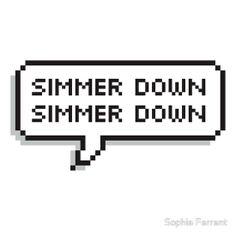 SLSP 'Simmer Down' - 5SOS Speech Bubble by Sophia Farrant