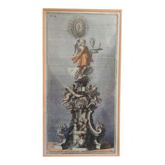 18th C. Colored Etching of Roman Ornaments | Chairish