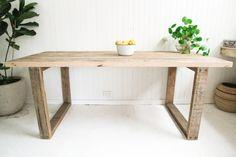 Custom Handmade Recycled Timber Table   eBay