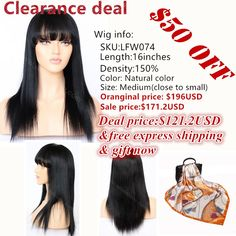 6e8c2c9dd 45 Best 35% off! Clearance Sale images in 2018 | 360 wig, Affordable ...
