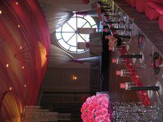 Pink Wedding Ballroom Window